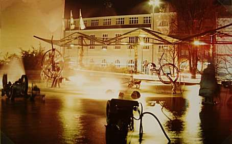 Basel: Tinguely Fountain by night
